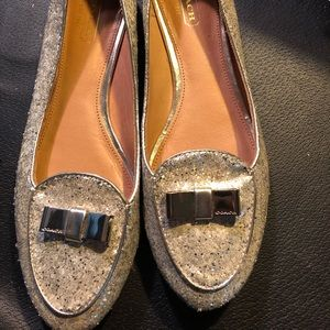 Silver Coach slip on shoes